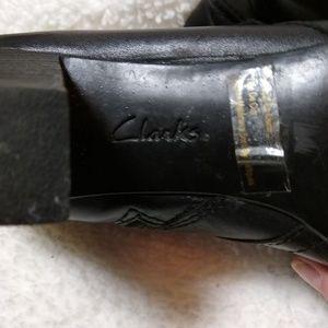 Clarks Shoes - Women's Clarks black ankle boots.